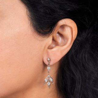 Filigree Diamond Drop Earrings