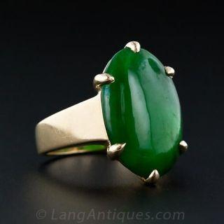 Fine Natural Jade 18K Ring