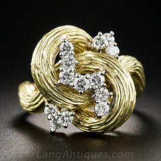 Free-form Diamond Cocktail Ring