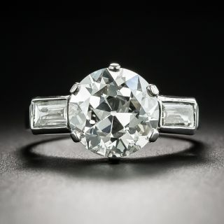 French 3.52 Carat Diamond Engagement Ring - GIA I VS1 - 2