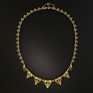French Antique Swirl Necklace