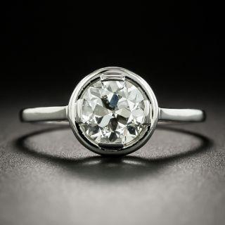 French Art Deco 1.55 Carat Diamond Solitaire - GIA K SI2 - 2