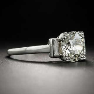 French Art Deco 1.78 Carat Diamond Platinum Solitaire Engagement Ring - GIA N VS2