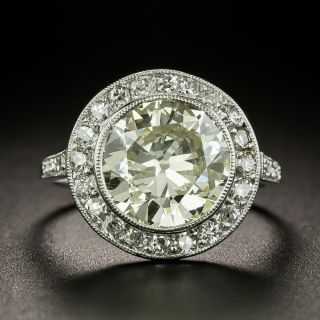 French Art Deco 2.99 Carat Diamond Engagement Ring - GIA - 1