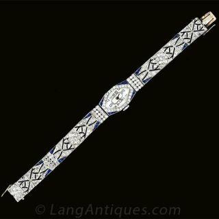 French Art Deco Diamond Watch