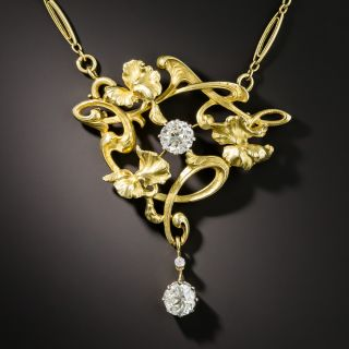 French Art Nouveau Diamond Necklace  - 2