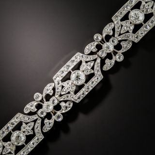 French Belle Epoque Platinum Diamond Bracelet - 2