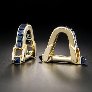 French Boucheron Sapphire Cufflinks - 1