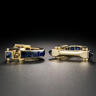 French Boucheron Sapphire Cufflinks