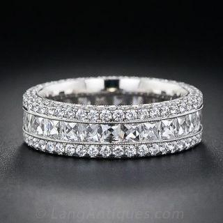 French-Cut Wide Diamond Band - 1