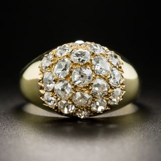 French Diamond Cluster Ring - 2