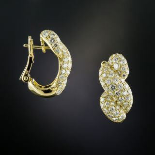 French, French Twist Diamond Earrings - 1