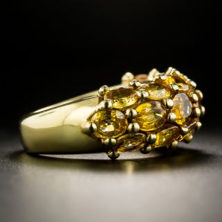 French Golden Sapphire Ring by Arfan, Paris