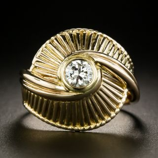 French Mid-Century Diamond Dome Ring - 2