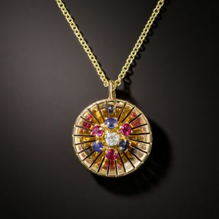 French Mid-Century Multi-Gem Pendant - 3
