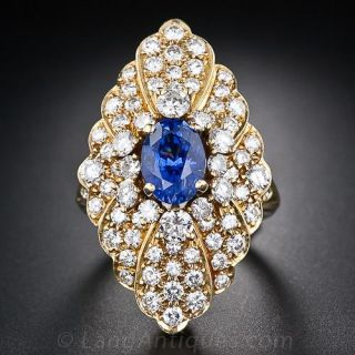 French Sapphire and Diamond Ring - 1