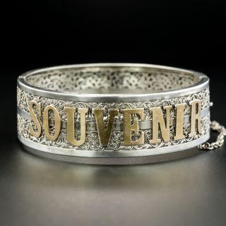 """French """"Souvenir"""" Silver Bracelet - 2"""
