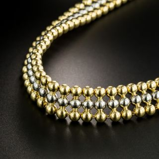 French Two-Tone Choker Necklace