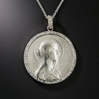 French Virgin Mary Pendant by Frédéric Vernon