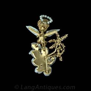 Freshwater Pearl and Sapphire Angel by 'Ruser'