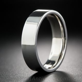 Gents Special Order Flat Edge Wedding Band