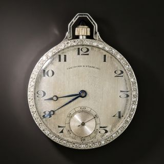 Gent's Theodoore B. Starr Open Face Platinum Pocket Watch