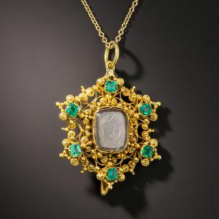 Georgain Emerald Memorial Pendant / Pin - 1
