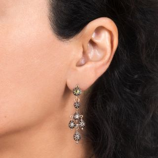 Late-Georgian Day and Night Diamond Drop Earrings