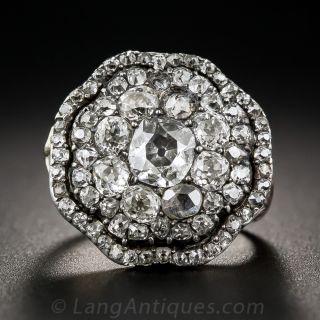 Georgian Diamond Cluster Ring - 1