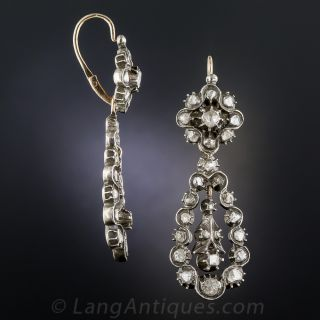 Georgian Day/Night Diamond Drop Earrings