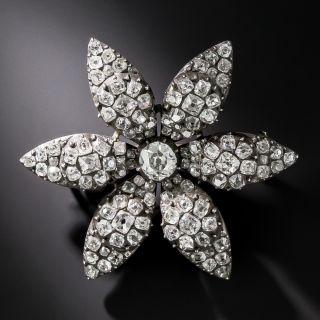 Georgian Diamond Flower Brooch - 1