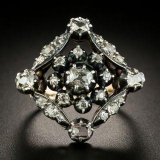 Georgian Lozenge Shaped Diamond Ring - 3