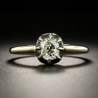 Georgian Style .67 Carat Old Mine-Cut Diamond Engagement Ring - 2