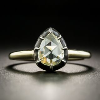 Georgian Style Pear-Shaped Rose-Cut Diamond Engagement Ring - 2