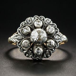 Georgian Style Rose-Cut Diamond Cluster Ring - 1