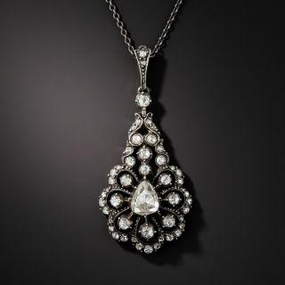 Georgian Style Rose-Cut Diamond Pendant Necklace - 1