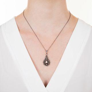 Georgian Style Rose-Cut Diamond Pendant Necklace