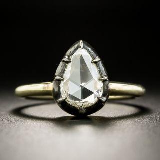 Georgian Style Rose-Cut Pear Shape Diamond Engagement Ring
