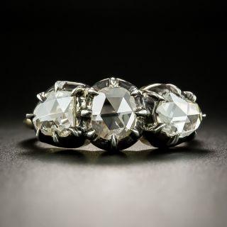 Georgian 'Style' Three-Stone Rose-Cut Diamond Ring - 2