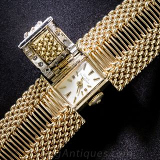 Girard Perregaux Vintage Gold and Diamond Covered Bracelet Watch