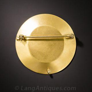 Gold Nugget Prospector Brooch