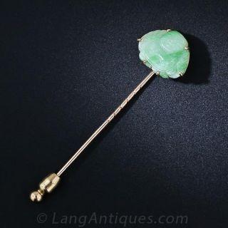 Jade Buddha Stick Pin