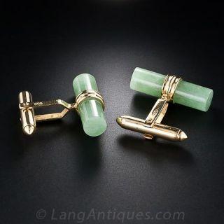 Jade Cylinder Cufflinks
