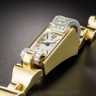 Jaeger Le Coultre Retro Backwind Watch