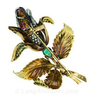 Jeweled Rose Pin