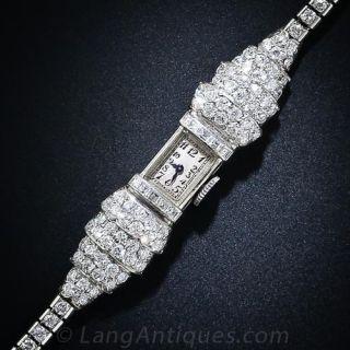 Lady's Art Deco Diamond Wristwatch