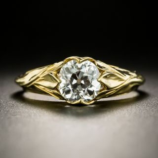 Lang Collection 1.14 Carat Art Nouveau Style Engagement Ring - GIA I SI1 - 3