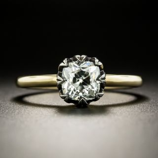Lang Collection 1.17 Carat Old Mine Cut Diamond Ring - GIA J SI1 - 2