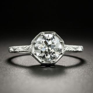 Lang Collection 1.23 Carat European-Cut Diamond Ring - GIA E VS2 - 6
