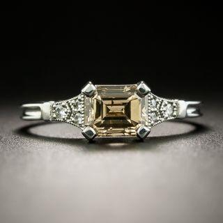 Lang Collection 1.24 Carat Natural, Fancy Dark Orange-Brown Emerald-Cut Diamond Ring - GIA - 1